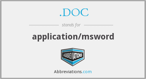 .DOC - application/msword