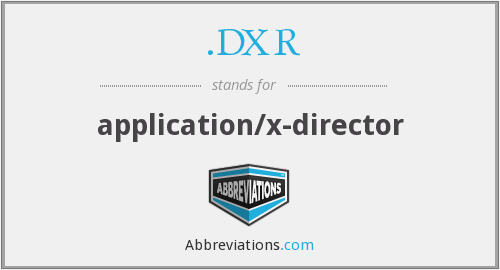 What does .DXR stand for?