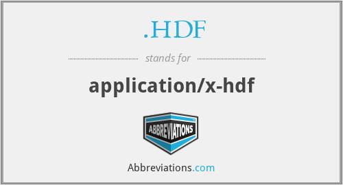 .HDF - application/x-hdf