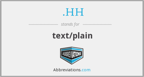 What does .HH stand for?