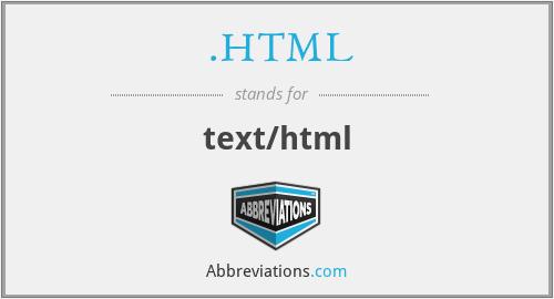 .HTML - text/html