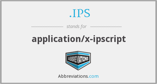 .IPS - application/x-ipscript