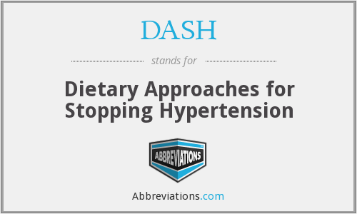 DASH - Dietary Approaches for Stopping Hypertension