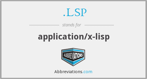 .LSP - application/x-lisp