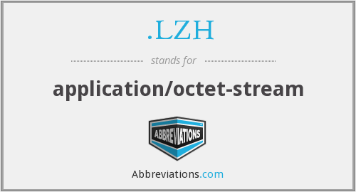 What does .LZH stand for?