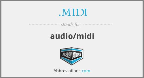 .MIDI - audio/midi