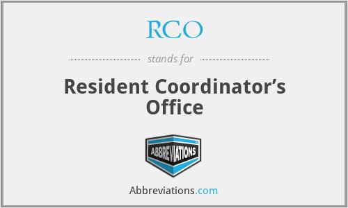 RCO - Resident Coordinator's Office