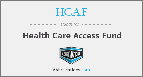 What does HCAF stand for?