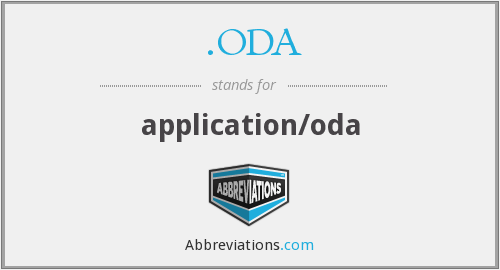 .ODA - application/oda