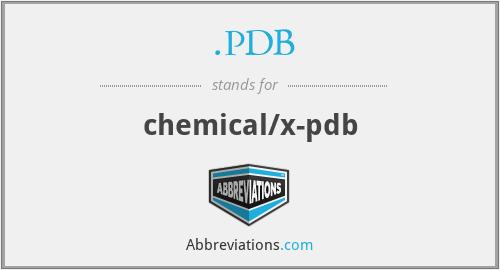 .PDB - chemical/x-pdb