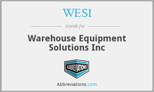 What does WESI stand for?