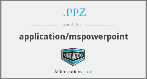 What does .PPZ stand for?