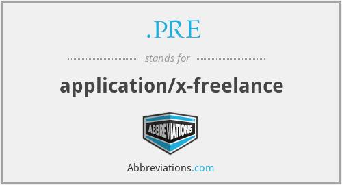 .PRE - application/x-freelance
