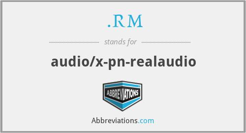 .RM - audio/x-pn-realaudio