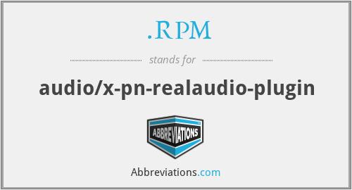RPM - audio/x-pn-realaudio-plugin