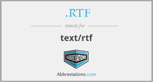 .RTF - text/rtf
