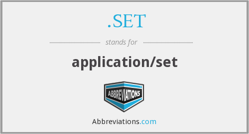 .SET - application/set
