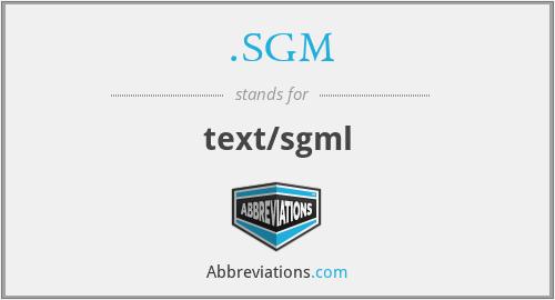 .SGM - text/sgml