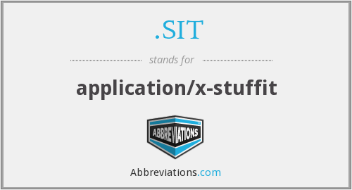 .SIT - application/x-stuffit