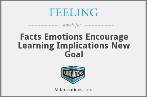 FEELING - Facts Emotions Encourage Learning Implications New Goal
