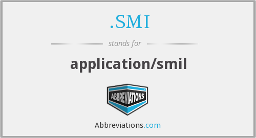 .SMI - application/smil