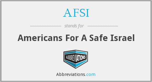 AFSI - Americans For A Safe Israel
