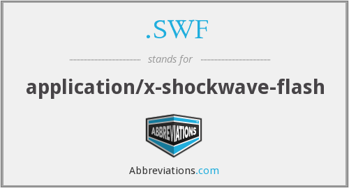 What does .SWF stand for?