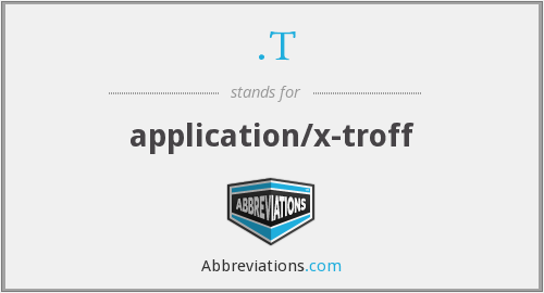 .T - application/x-troff