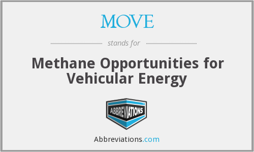 MOVE - Methane Opportunities for Vehicular Energy