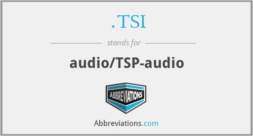 .TSI - audio/TSP-audio