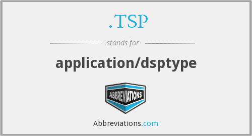 .TSP - application/dsptype