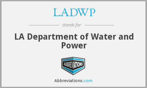 LADWP - LA Department of Water and Power