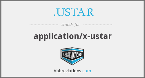 What does .USTAR stand for?