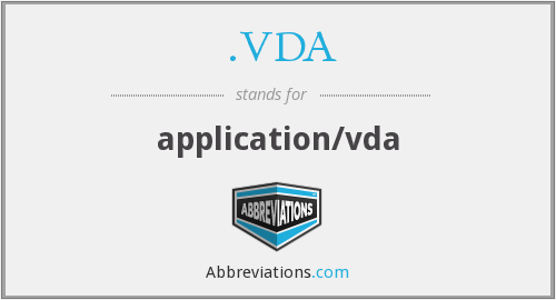 .VDA - application/vda