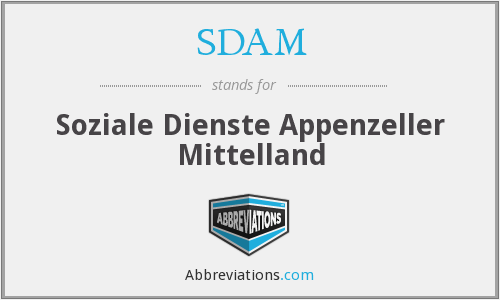 SDAM - Soziale Dienste Appenzeller Mittelland