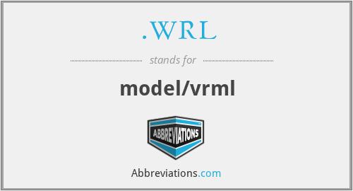 .WRL - model/vrml