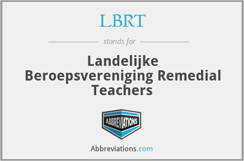 LBRT - Landelijke Beroepsvereniging Remedial Teachers