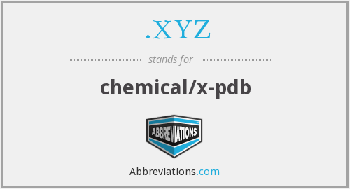 .XYZ - chemical/x-pdb