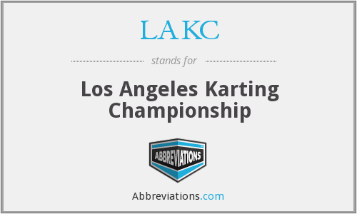 What does LAKC stand for?