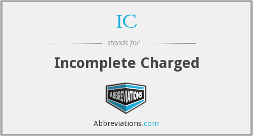 What does IC stand for?