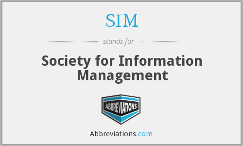SIM - Society for Information Management