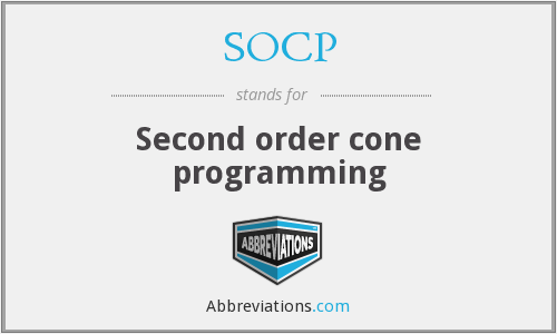 What does SOCP stand for?