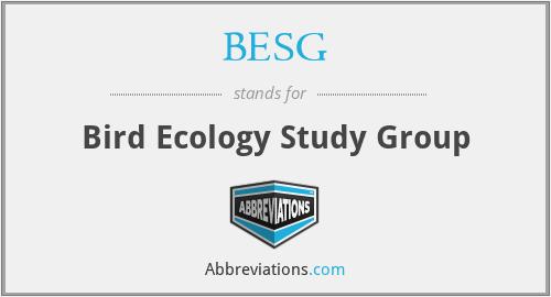BESG - Bird Ecology Study Group
