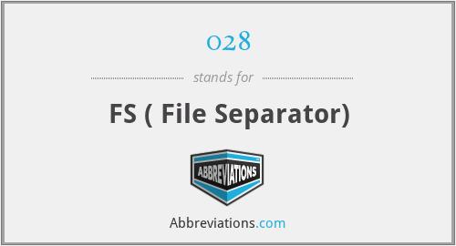 028 - FS ( File Separator)