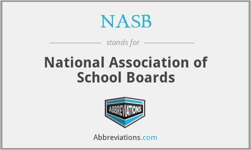 NASB - National Association of School Boards