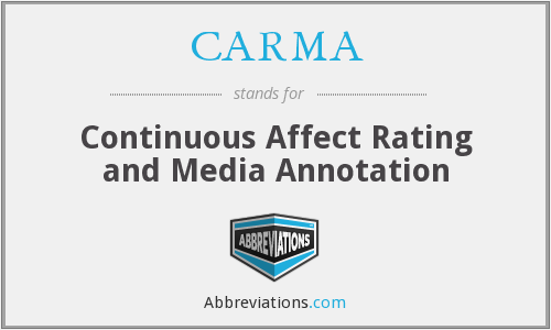 CARMA - Continuous Affect Rating and Media Annotation