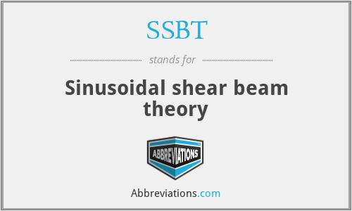 SSBT - Sinusoidal shear beam theory