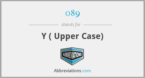 089 - Y ( Upper Case)