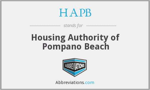 What does HAPB stand for?