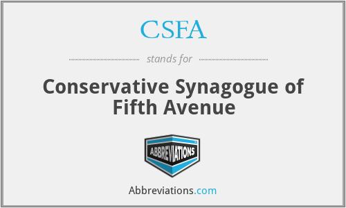 CSFA - Conservative Synagogue of Fifth Avenue